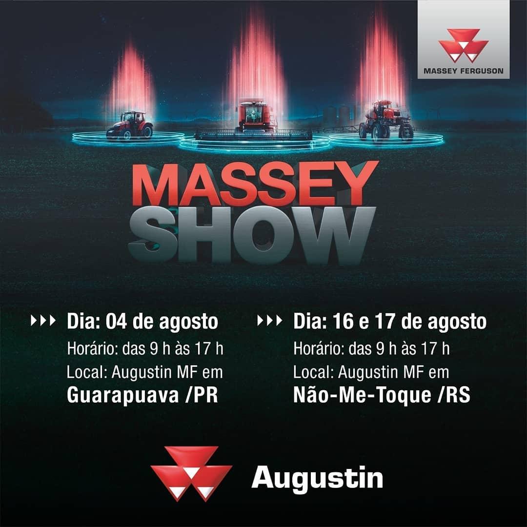 Augustin realiza dias 16 e 17 de agosto em Não-Me-Toque o Massey Show