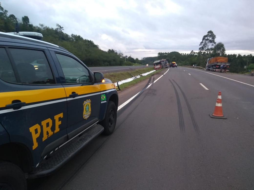Nenhum acidente com morte foi registrado entre Victor Graeff e Nova Santa Rita atendido pela PRF Lajeado