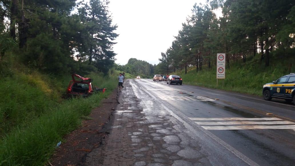 Quatro pessoas ficam feridas em acidente na BR 386 no Tio Hugo