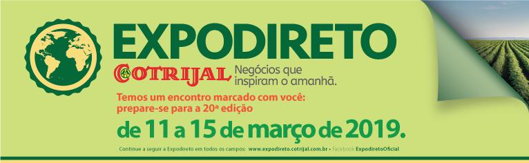 20ª Expodireto Cotrijal será lançada nesta segunda-feira em Porto Alegre