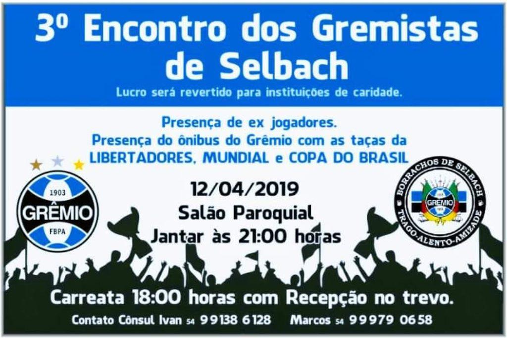 Selbach sedia nesta sexta-feira o 3º Encontro do Grêmio