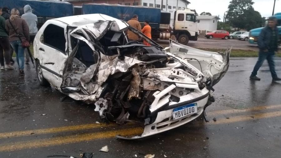 Jovem fica gravemente ferido em acidente de trânsito na BR 386 em Mormaço