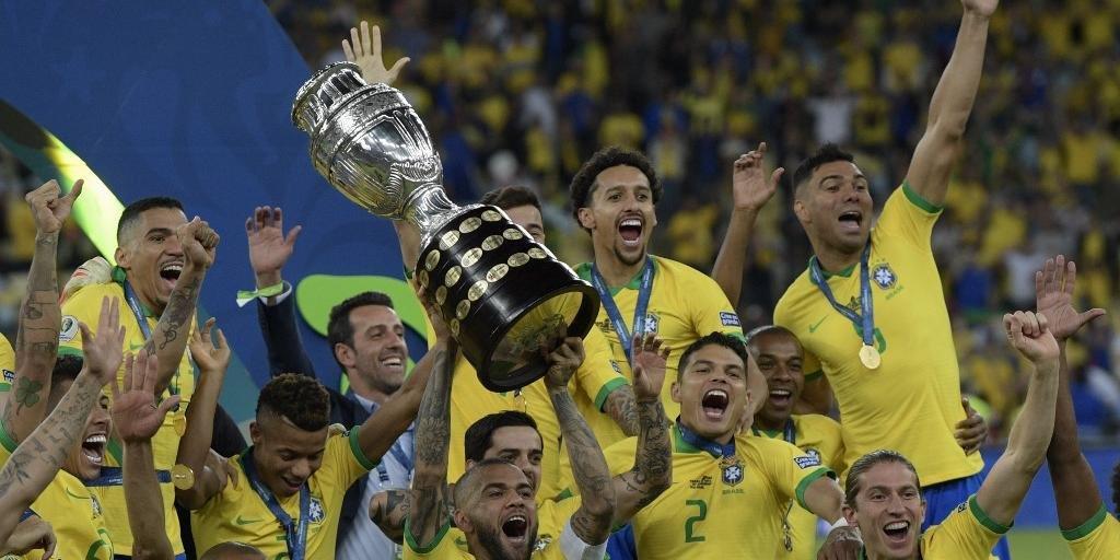 Everton marca, Brasil vence o Peru por 3 a 1 e fica com o título da Copa América
