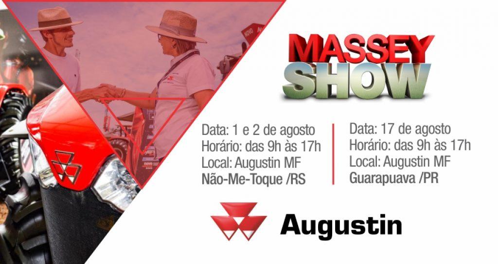 Augustin realiza dias 01 e 02 em Não-Me-Toque o Massey Show 2019