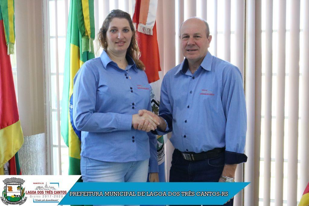 Vice-Prefeita Juliane Kempf assume interinamente em Lagoa dos Três Cantos