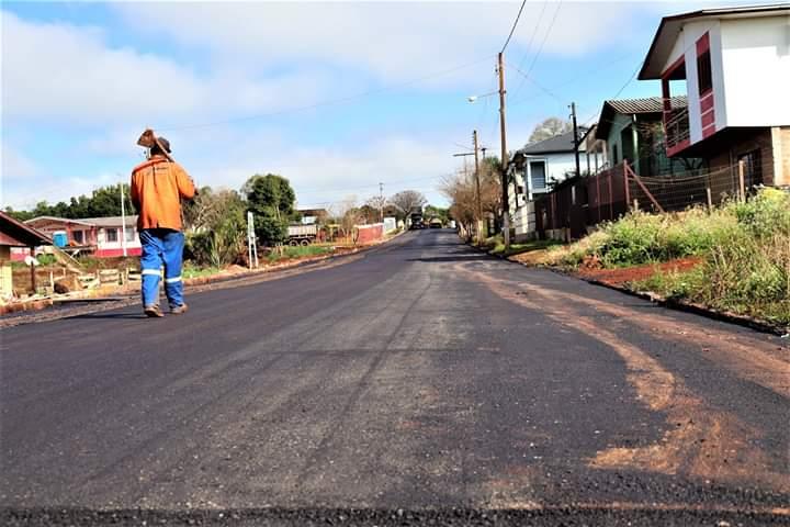 Rua Barão do Rio Branco tem obras praticamente concluídas em Selbach