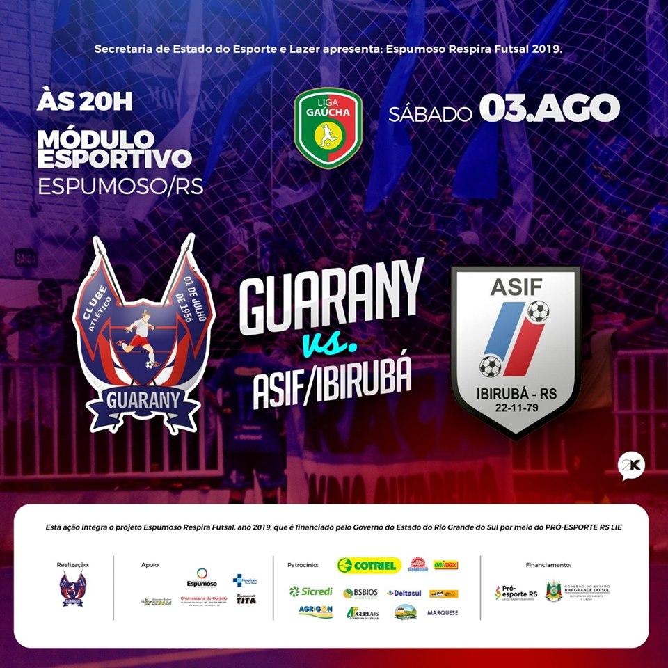 Guarany/Cotriel ainda não conseguiu derrotar Asif em jogos pela Liga Gaúcha
