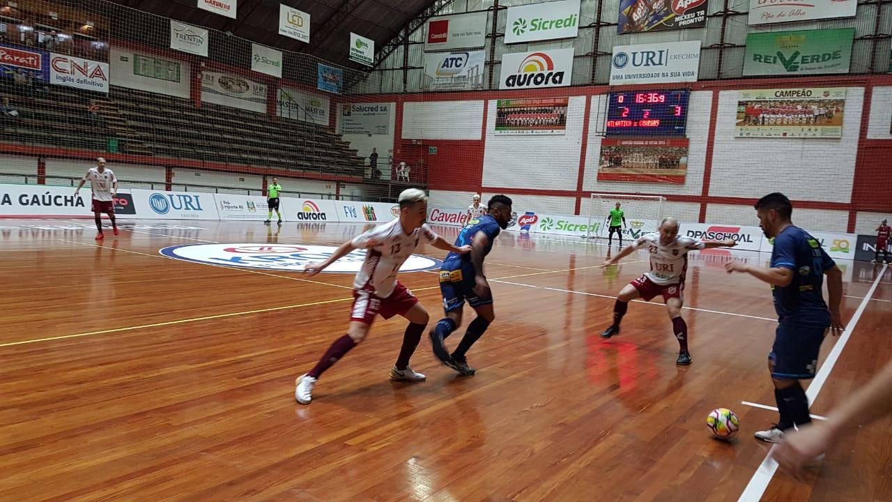 Guarany/Cotriel perde para o Atlântico a primeira na Liga Gaúcha de Futsal