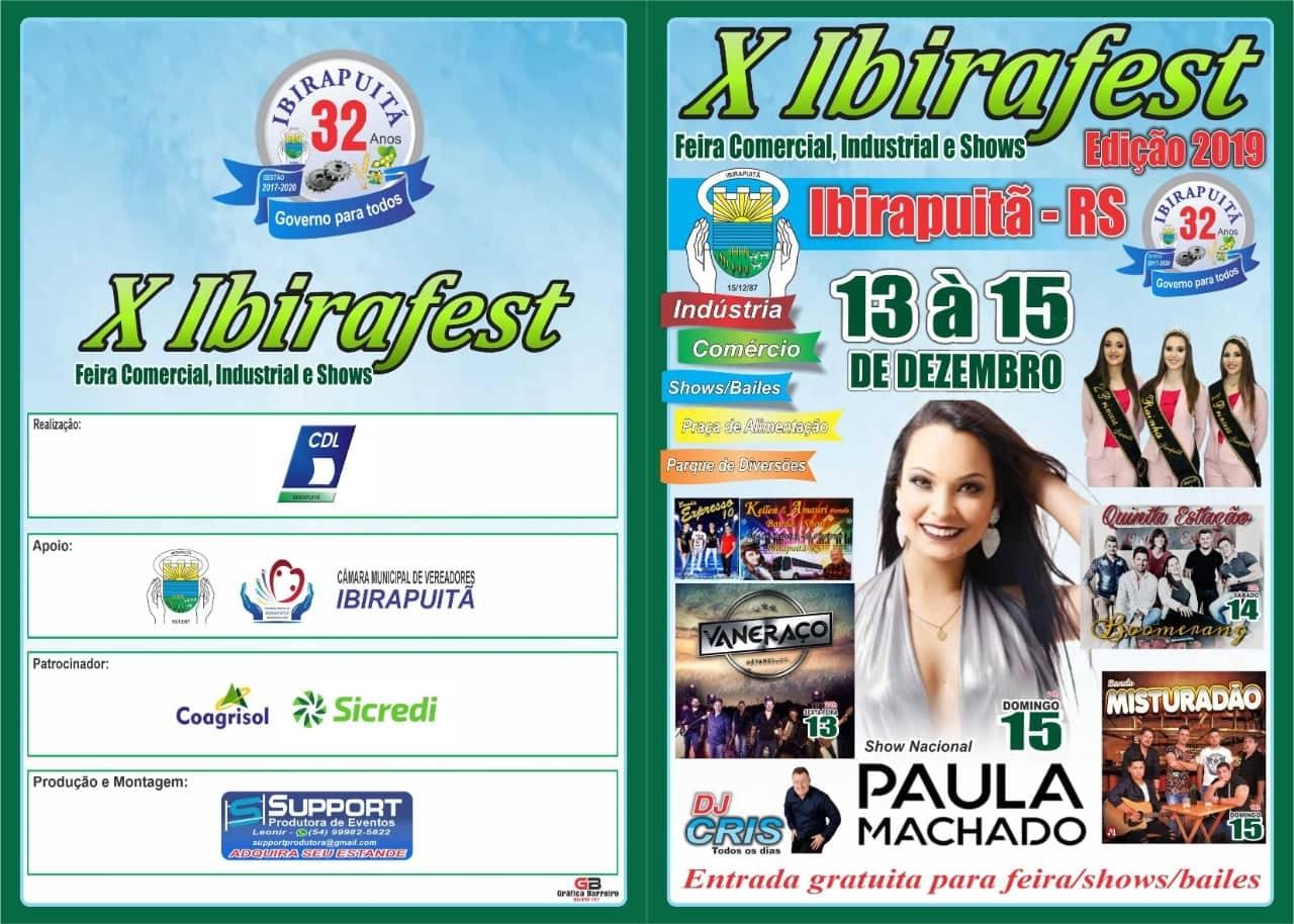 Ibirapuitã realiza até este dia 15 a 10ª Ibirafest