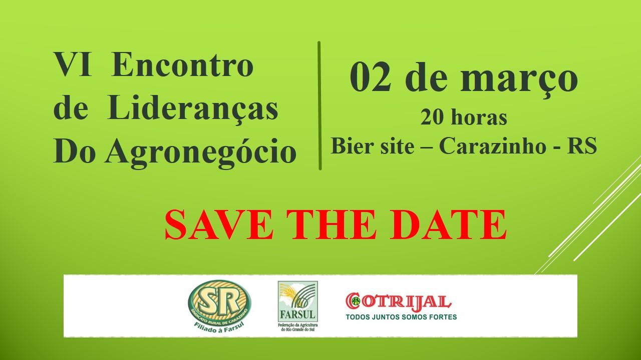 Sindicato Rural de Carazinho realiza em março o 6º Encontro de Lideranças do Agronegócio