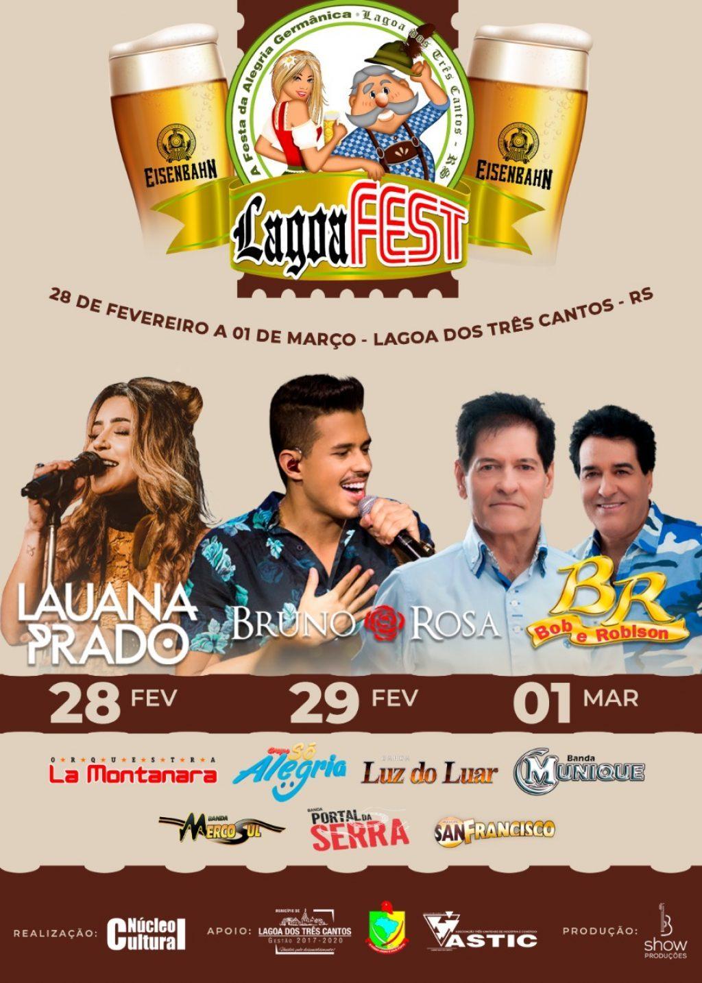 De 28 de fevereiro a 1º de março acontece a 19º Lagoa Fest