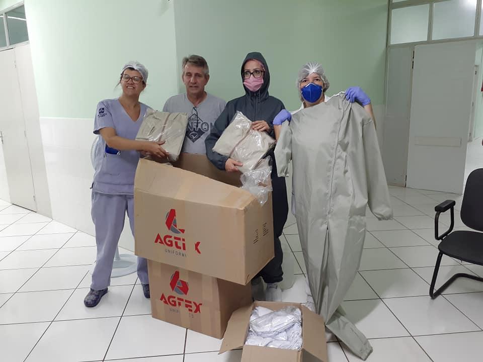 Sindipedras entrega EPI´s e insumos para o Hospital de Soledade
