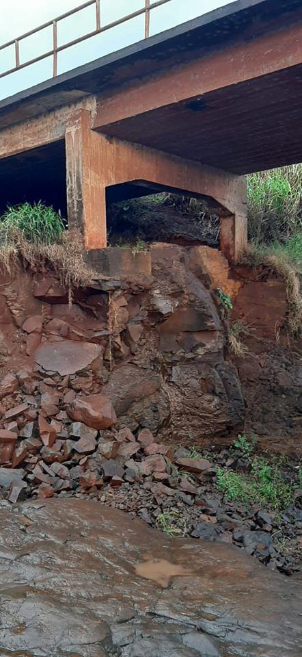 Ponte entre XV de Novembro e Fortaleza dos Valos passa por manutenção