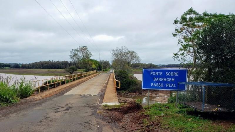 Ponte na VRS-824 entre XV de Novembro e Fortaleza tem tráfego normalizado