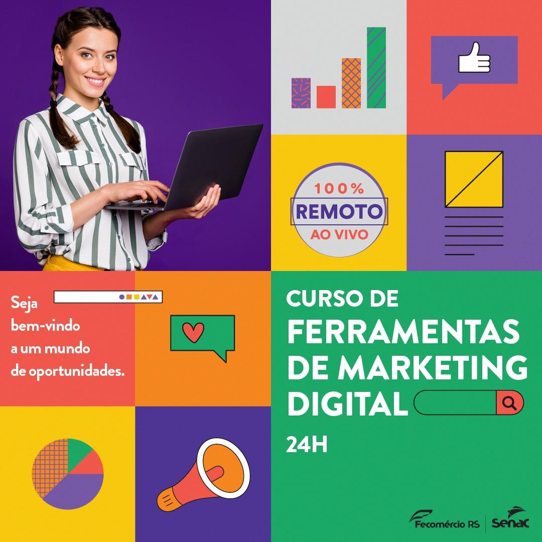 SENAC Carazinho oferece curso de Ferramentas de Marketing Digital