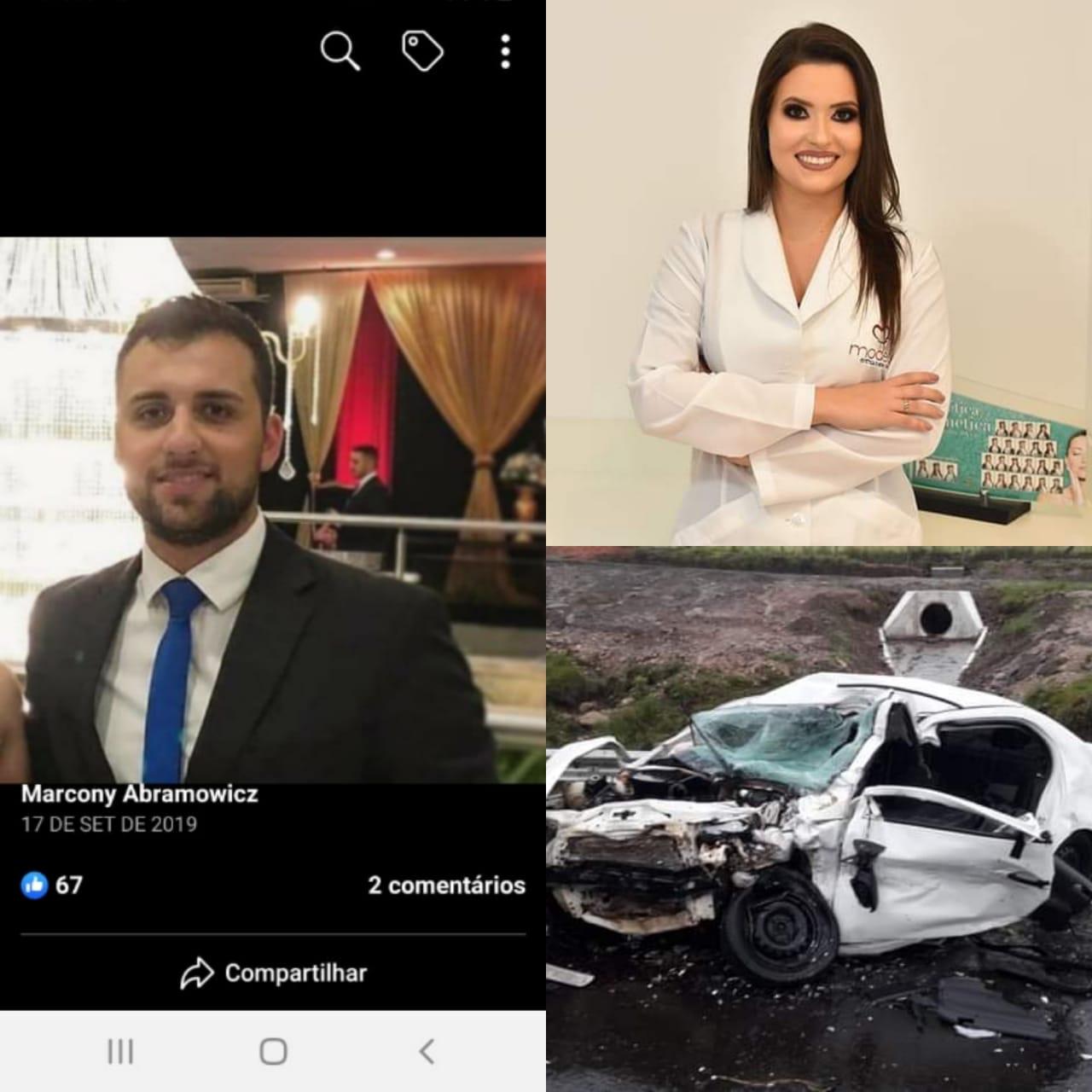 Namorado de espumosense Bruna Ortiz morta em acidente falece no hospital