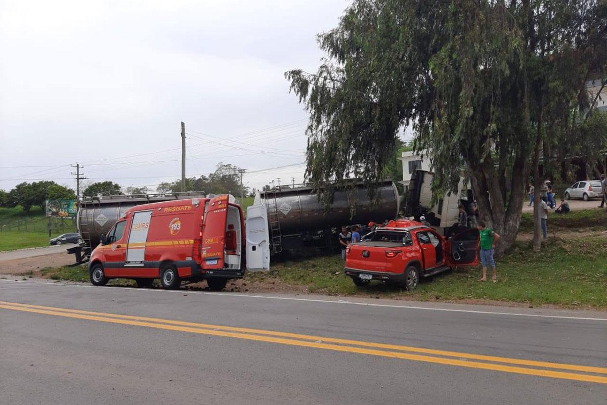 Duas pessoas morrem em acidente na BR 386 em Soledade