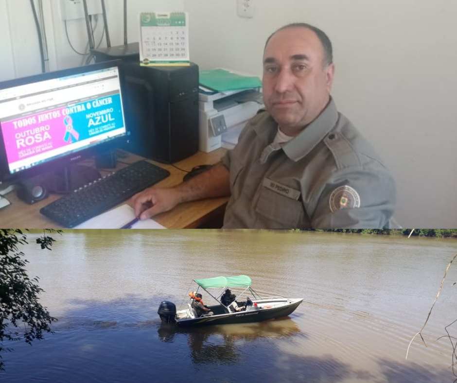 Brigada Militar de Alto Alegre e Patrulha Ambiental realizam operação no Rio Jacuí