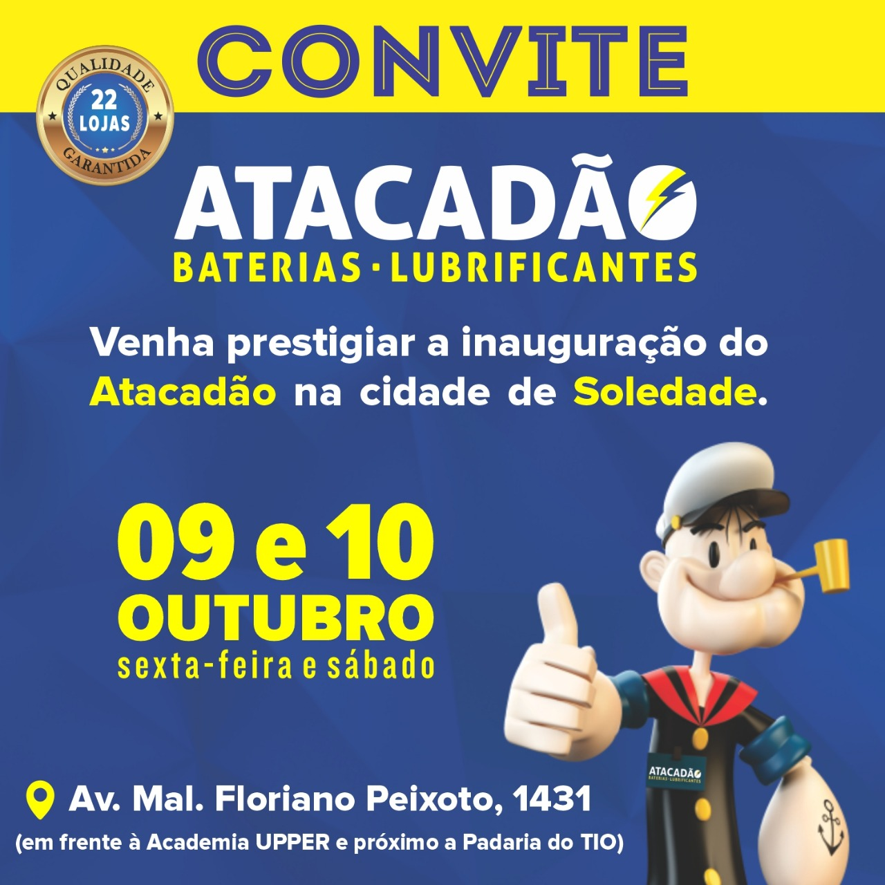 Atacadão das Baterias será inaugurado nesta sexta-feira em Soledade