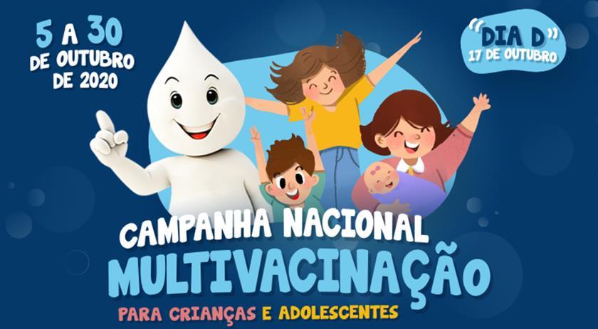 Vacinação contra a poliomielite e multivacinação começam na segunda-feira, 05
