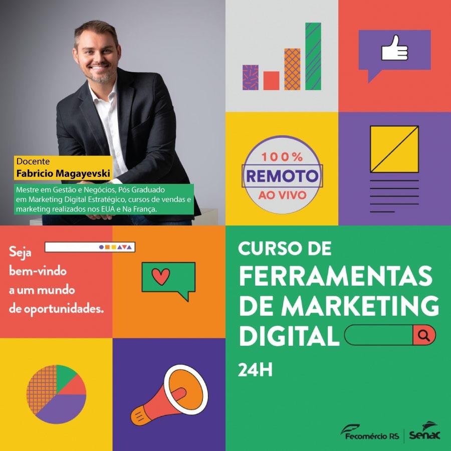 Senac Carazinho oferta curso de Ferramentas De Marketing Digital