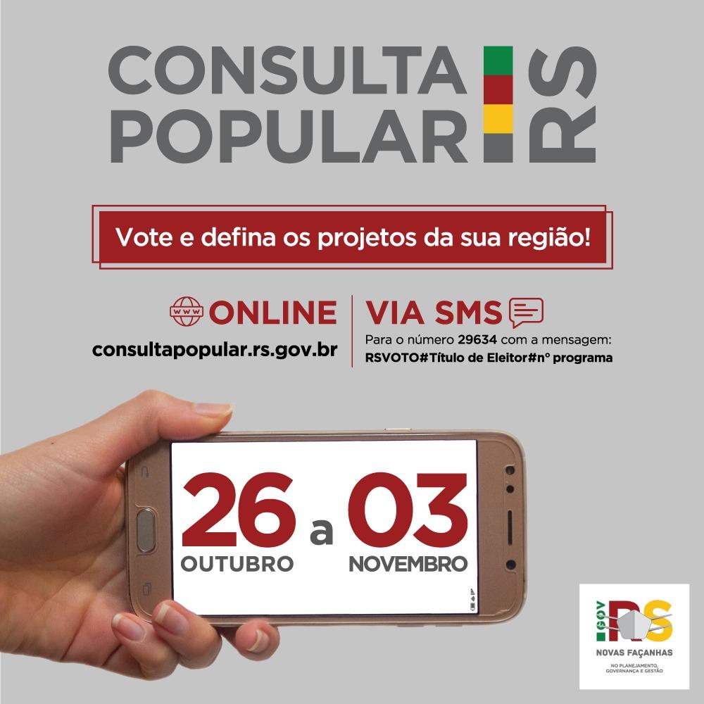 Votação na Consulta Popular vai até terça, dia 3