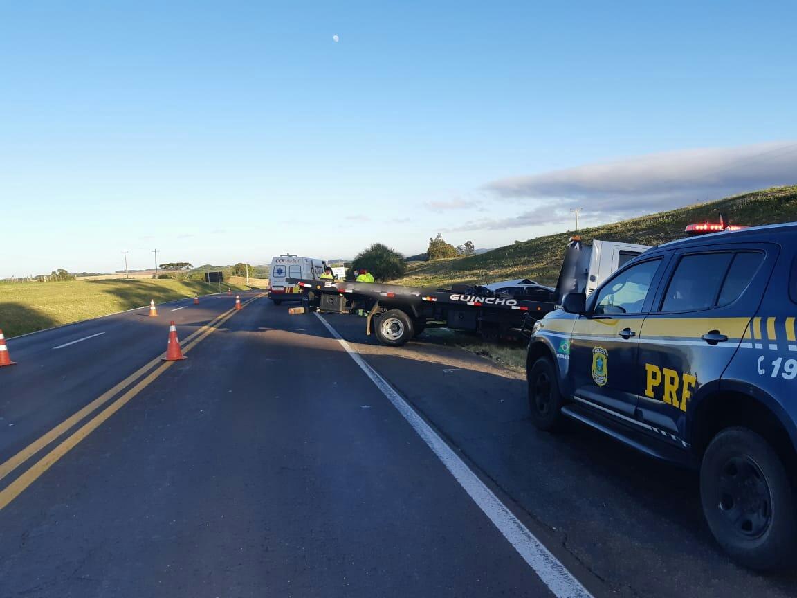 Homem morre em colisão entre caminhão e carro na BR 386 em Soledade