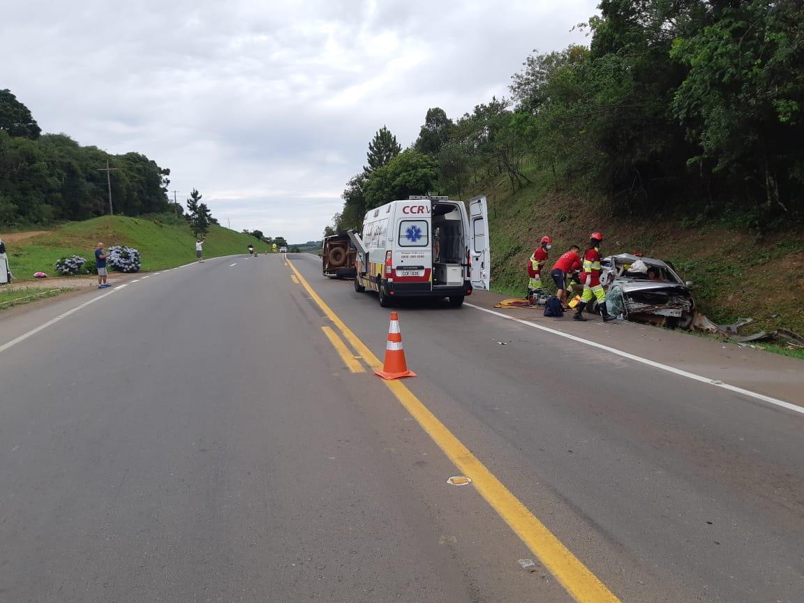 Colisão entre dois carros deixa oito feridos na BR-386, em Soledade