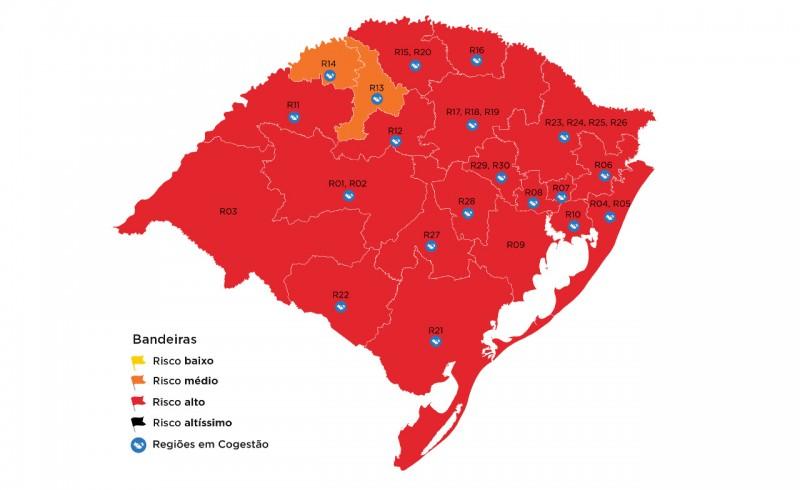 Região de Passo Fundo tem recurso indeferido e mapa segue vermelho