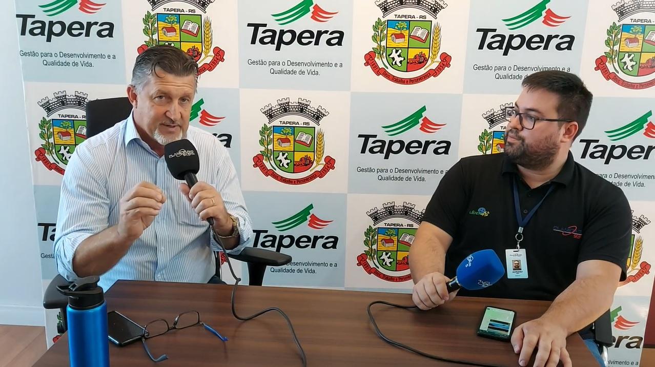 Prefeito de Tapera avalia ações do primeiro semestre de seu segundo mandato