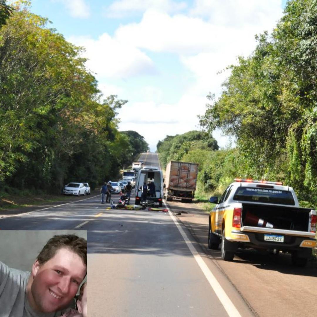 Homem morre em acidente de moto na RS 223 em Tapera