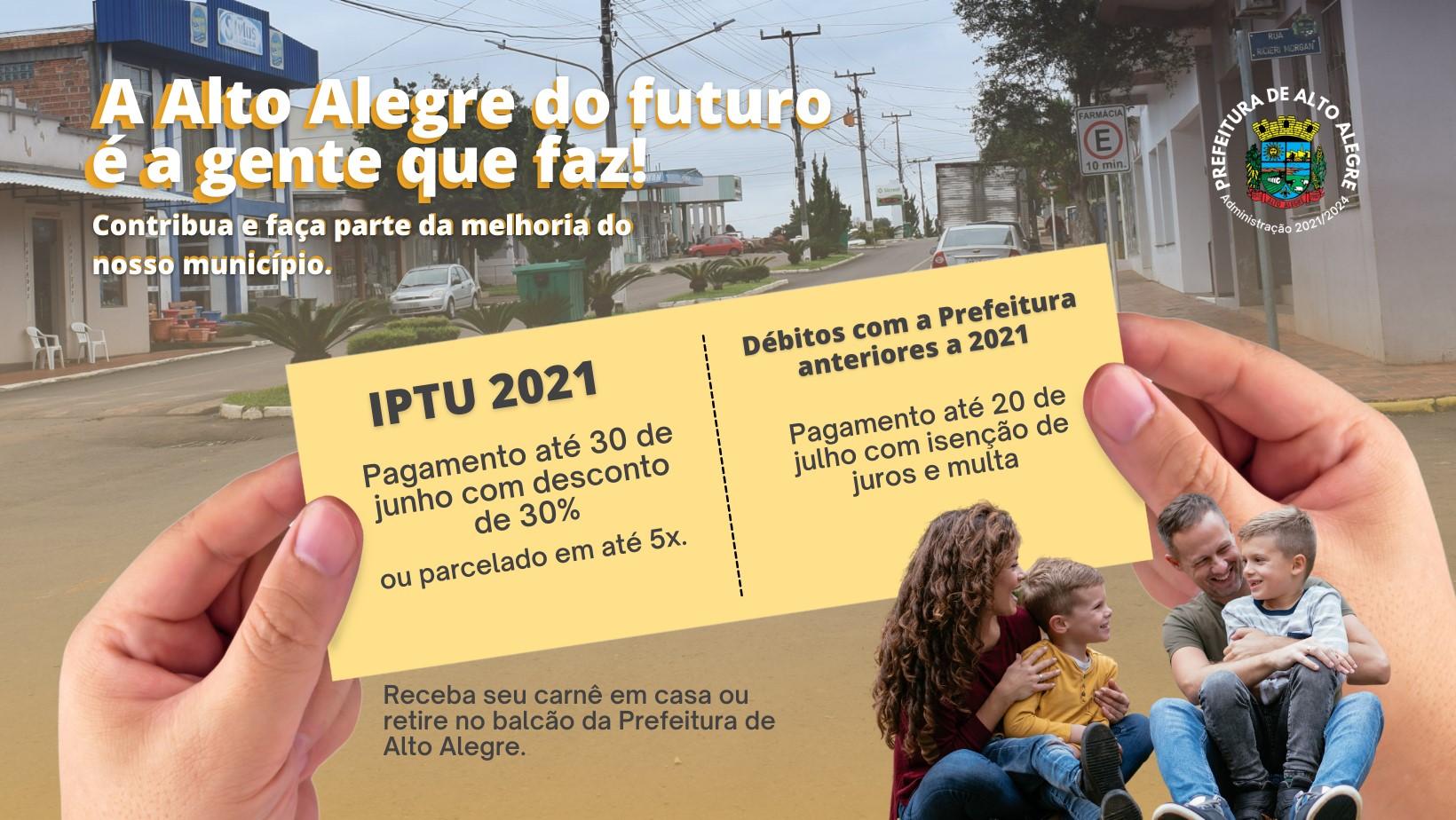 IPTU em Alto Alegre poderá ter até 30% se pago até 30 de junho