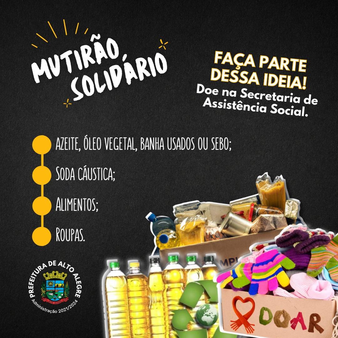 Secretaria de Assistência Social de Alto Alegre promove Mutirão Solidário