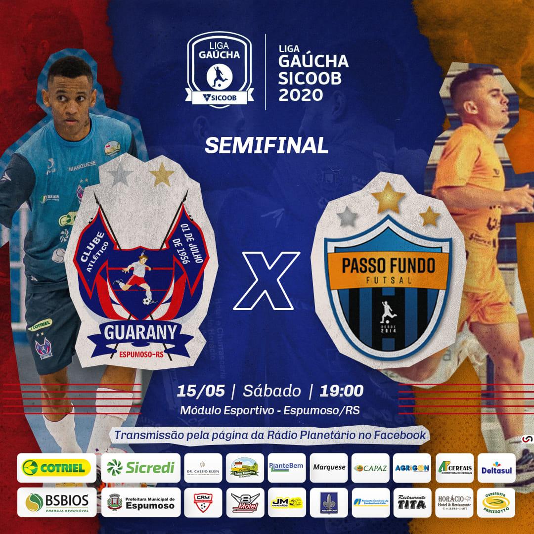 Guarany/Cotriel/Sicredi e Passo Fundo Futsal começam neste sábado a disputar vaga a final da Liga Gaúcha 1