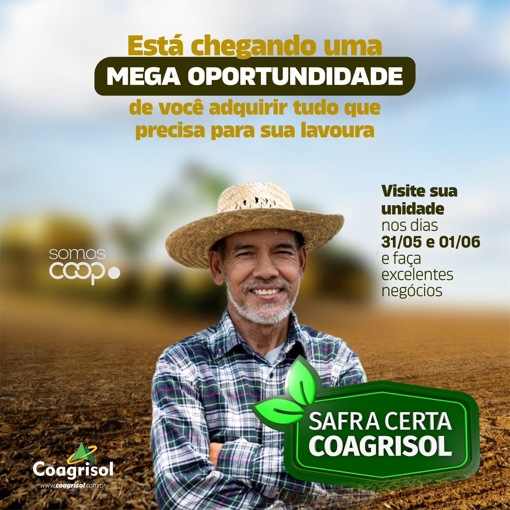 Campanha Safra Certa oportuniza realização de bons negócios com a Coagrisol