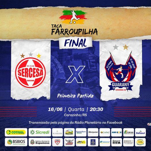 Guarany/Cotriel/Sicredi e Sercesa começam nesta quarta-feira a decidir da Taça Farroupilha Planalto