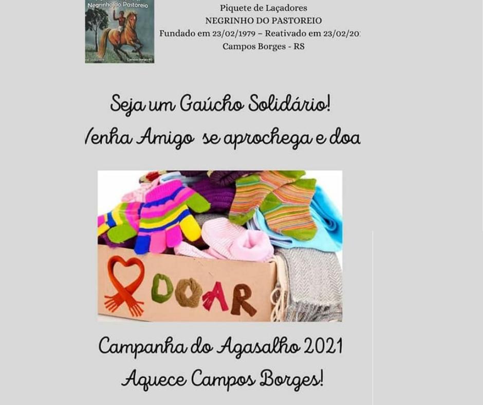 PL Negrinho do Pastoreio de Campos Borges promove Campanha do Agasalho