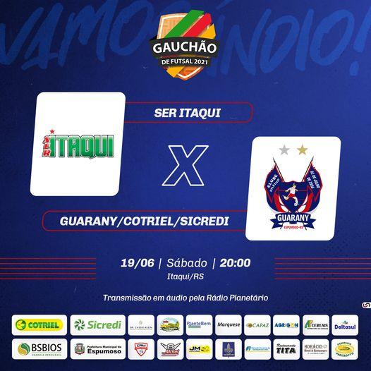 Guarany/Cotriel/Sicredi vai em busca da segunda vitória no Gauchão de Futsal