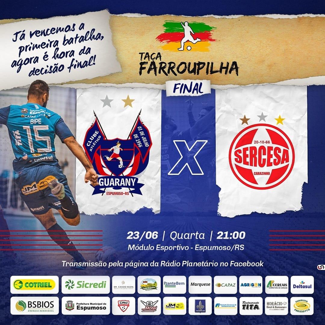 Guarany/Cotriel/Sicredi e Sercesa decidem nesta quarta-feira campeão da Taça Farroupilha Planalto