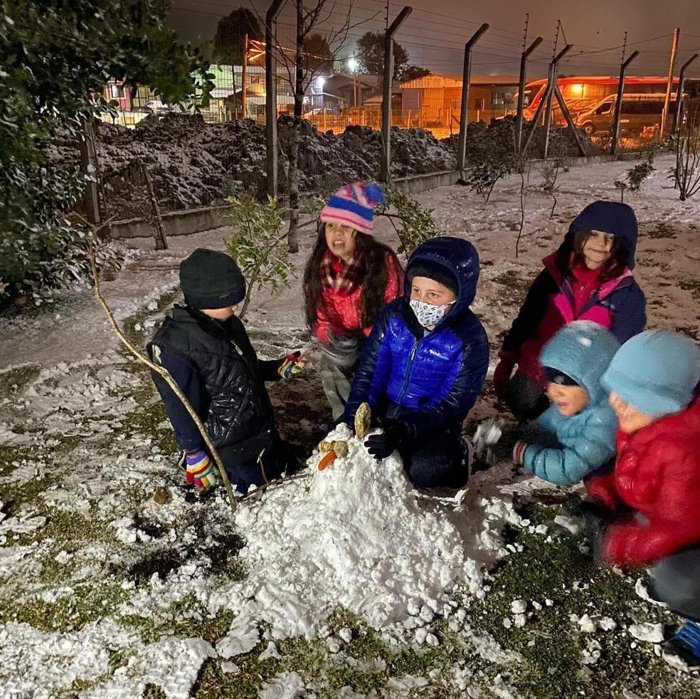 Neve no RS: ao menos 13 cidades registram fenômeno