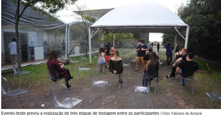 Dois participantes de evento-teste em Porto Alegre são diagnosticados com Covid-19