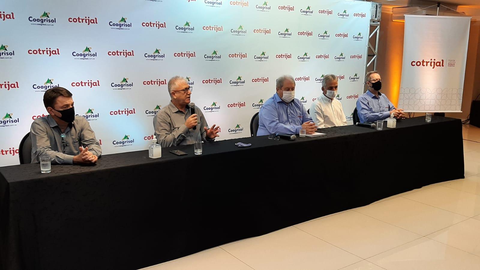 Cotrijal e Coagrisol firmam aliança estratégica de intercooperação