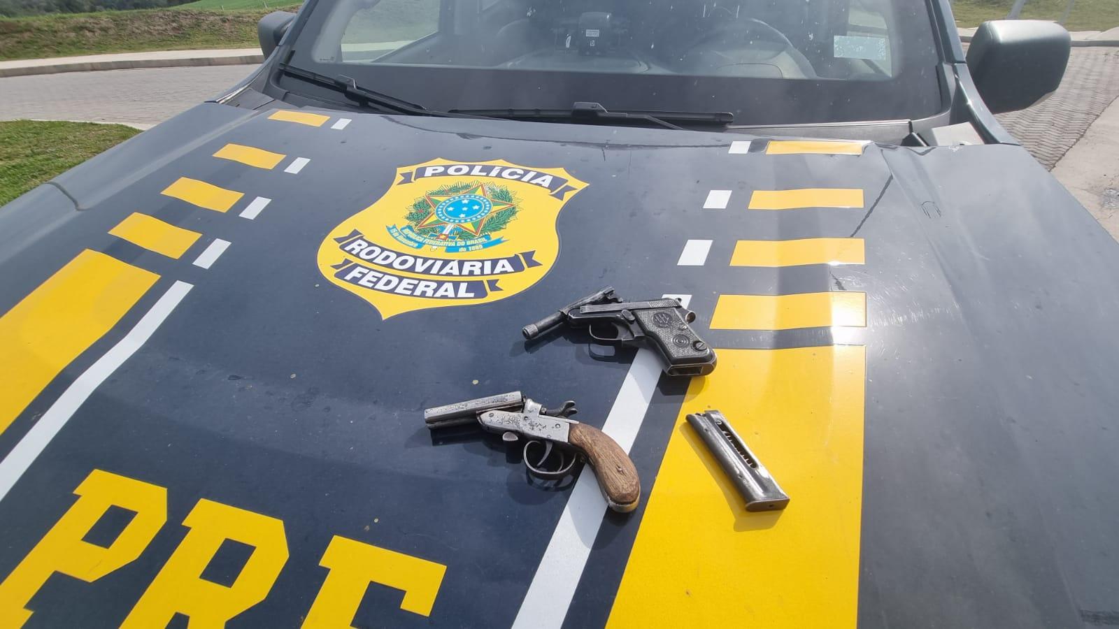 PRF prende foragido e apreende três armas em Fontoura Xavier