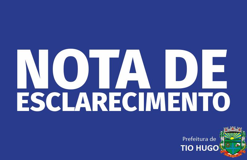 Prefeitura de Tio Hugo divulga nota oficial sobre possibilidade de reversão de emancipação