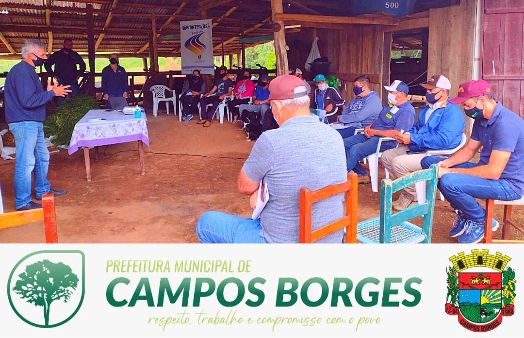 Emater e Secretaria da Agricultura realizam Dias de Campo em Campos Borges