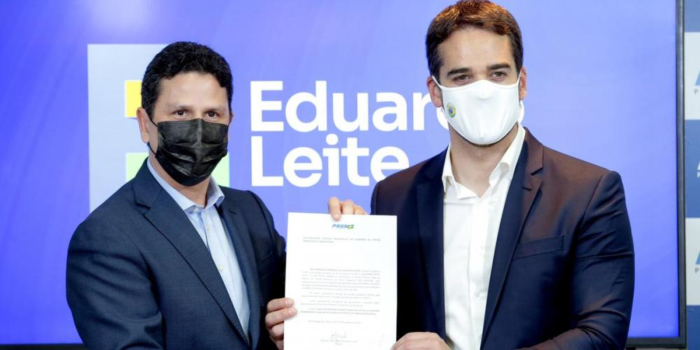 Eduardo Leite lança candidatura para as prévias no PSDB