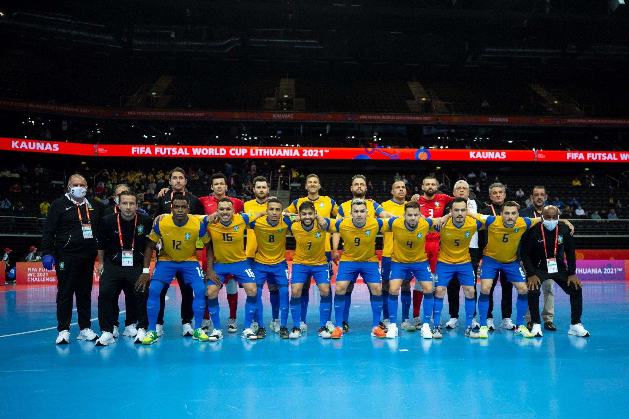 Brasil e Argentina farão a semifinal do Mundial de Futsal nesta quarta-feira