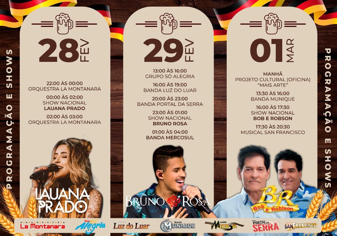 Com show nacional de Lauana Prado, é lançada oficialmente a Lagoa Fest 2020