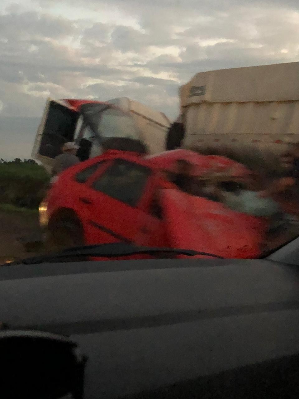 Três pessoas morrem em acidente na BR 158 em Cruz Alta