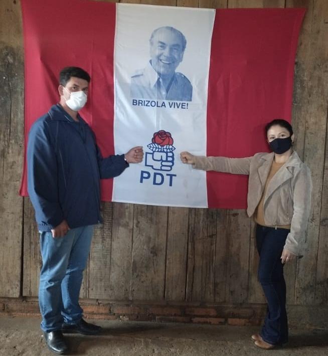 PDT indicou Anderson Bertolin e Adriana Bugs para eleição em Jacuizinho